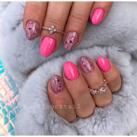 Gel Lac Roz pentru Unghii False - DN048 - Roz neon