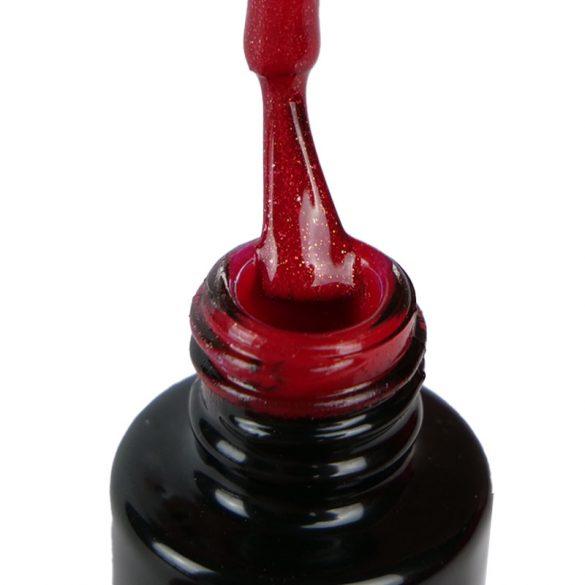 Gel Lac -DN136 - Roșu de Crăciun cu sclipici fine