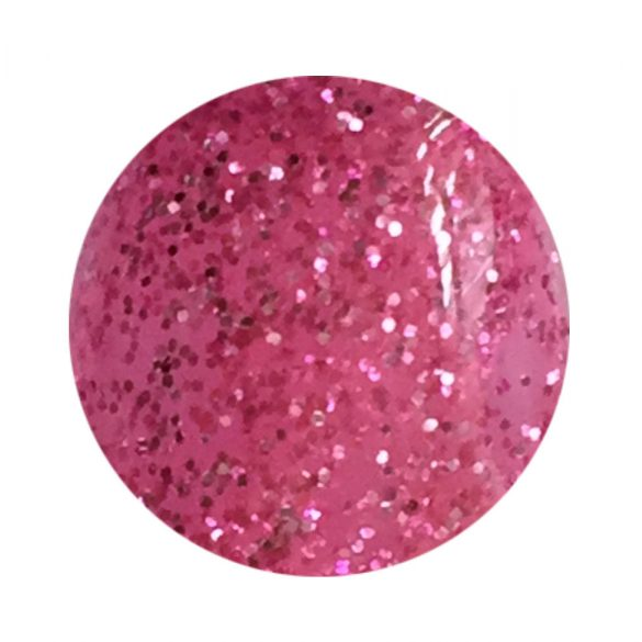 Gel color roz închis cu sclipici 140