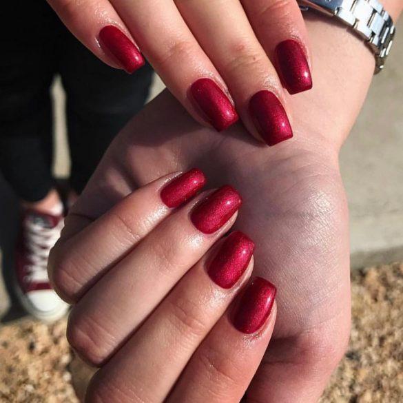 Gel Lac -DN168-Roșu de vin metal