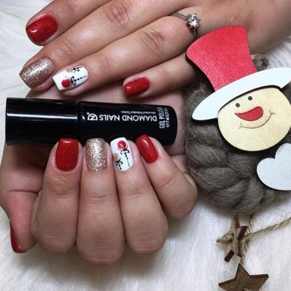 Gel Lac -DN174 Portocală cu miez roșu sclipitor