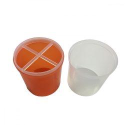 Suport din plastic pentru pile și pensule-portocaliu
