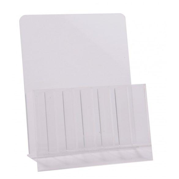 Suport din plastic pentru pile și pensule-transparent