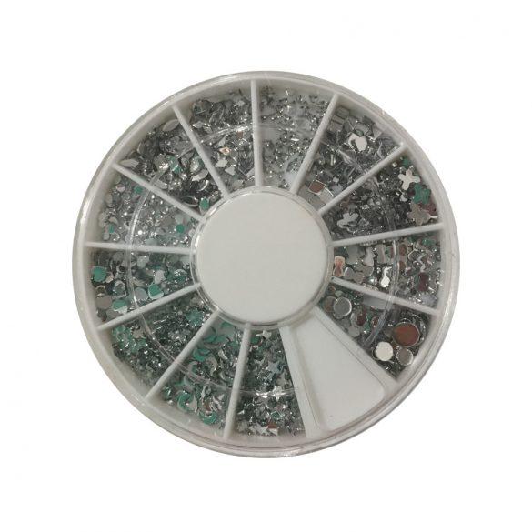 Disc+ strasuri -argintiu