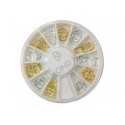 Bijuterii pentru unghii argintii ți aurii în disc