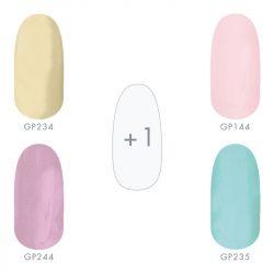 Gel Lac -Culori de Primăvară- Set I.- 4+1 culori