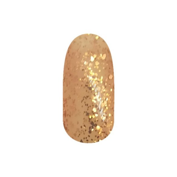 Gel Lac - DN226 - Auriu cu sclipici mari