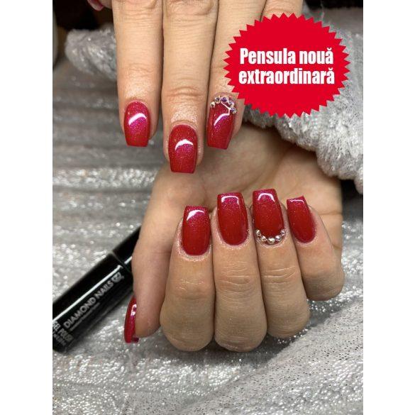 Gel Lac - 4 ml DN135 - Pink cu vibrații roșii