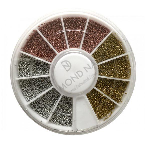 Disc cu mărgele /argintiu, bronz,auriu/