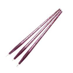 Set pensule de ornamentare (3buc)-pink