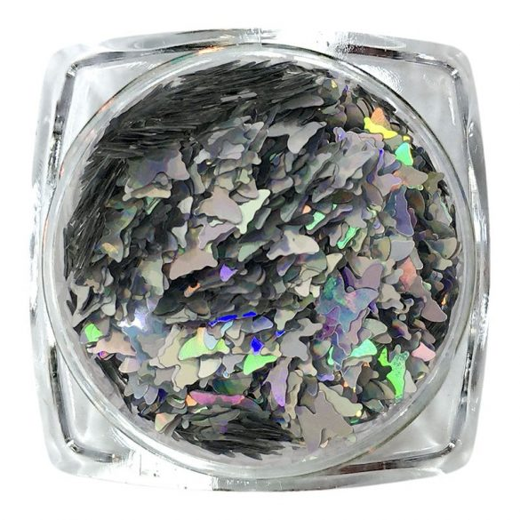 Ornament fluture - argintiu  cu hologram