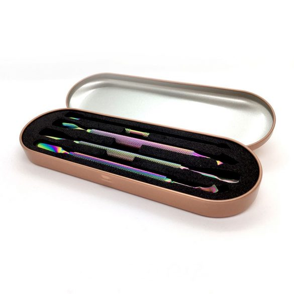 Set instrumente îndepărtare cuticule  (4 buc)-în cutie