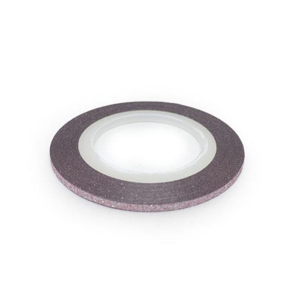Bandă ornamentare  -roz deschis mat 2mm
