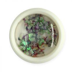 Ornament unghii -fluture colorat (001)