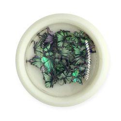 Ornament unghii- fluture colorat (002)