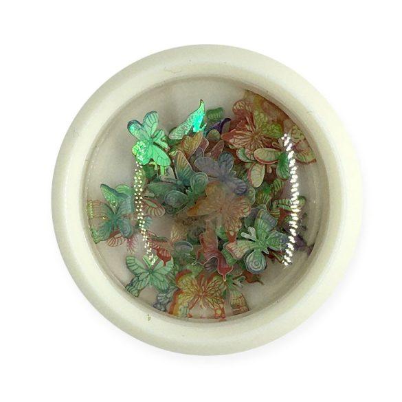 Ornament unghii - sfluture colorat (003)