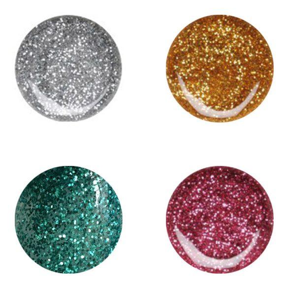 Geluri UV Colorate-4 intr-un pachet cu Sclipici